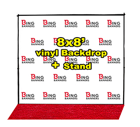 8 X8 Step And Repeat Banner Stand Red Carpet Same Day Shipping