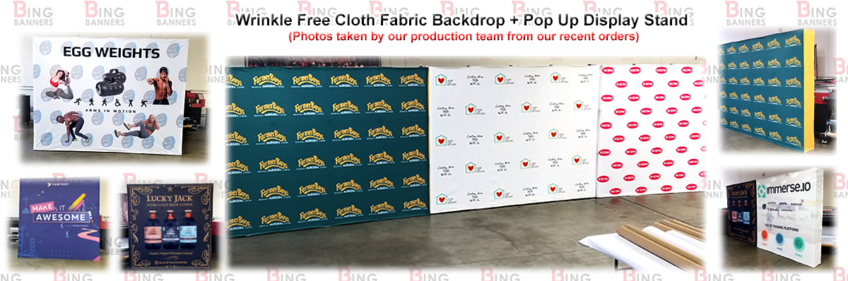 Banners | Backdrops | Step and Repeat | Fabric Banners | BingBanners.com