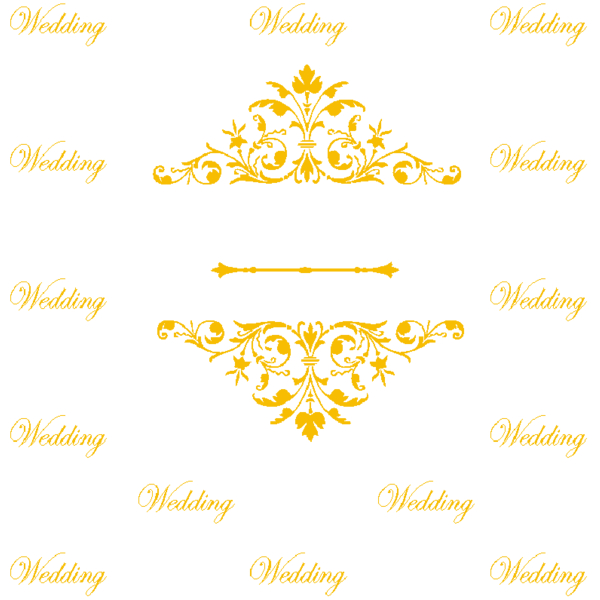 step and repeat design for wedding