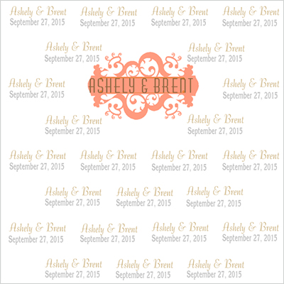 step and repeat design -wedding